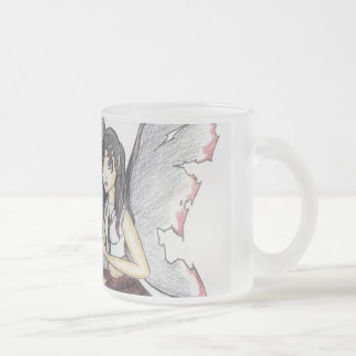 """""""Goth Fairy"""" Frosted Glass Mug"""