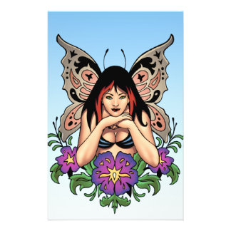 Goth Fairy with Flowers, Butterfly Wings by Al Rio Full Color Flyer