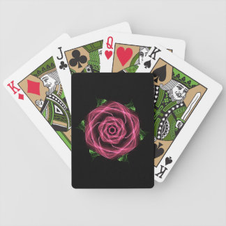 Goth Fractal Rose Bicycle Playing Cards