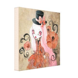 """Goth Girl : """"Abigail"""" Canvas Print"""