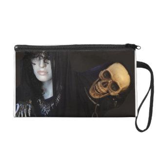 Goth Girl and Death Wristlet Clutch