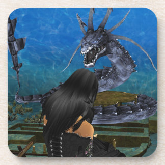 Goth Girl And Dragon Coasters