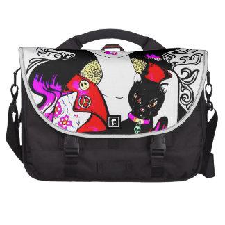 Goth girl bolsas para computador portátil