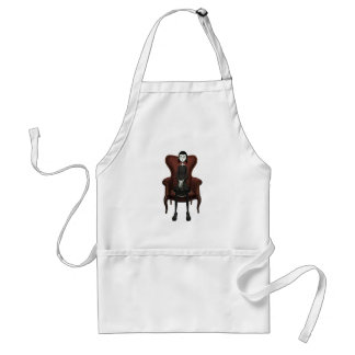 Goth Girl In A Chair Adult Apron