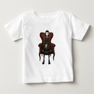 Goth Girl In A Chair Baby T-Shirt