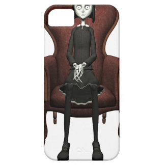 Goth Girl In A Chair iPhone SE/5/5s Case