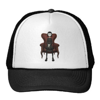 Goth Girl In A Chair Trucker Hat