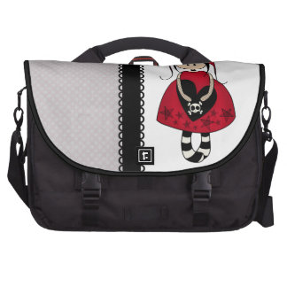 Goth Girl in Red Dress Commuter Bags