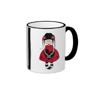 Goth Girl in Red Dress Coffee Mug