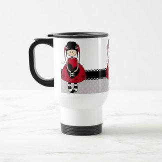 Goth Girl in Red Dress Mugs