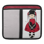 Goth Girl in Red Dress Sleeve For iPads
