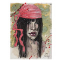 Goth Girl in Red Scarf by Gary Shipman Posters