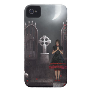 Goth girl in spooky moonlit graveyard blackberry bold case