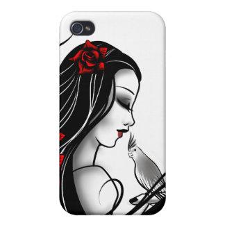 Goth girl iPhone 4 case