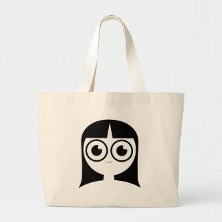 Goth Girl Large Tote Bag