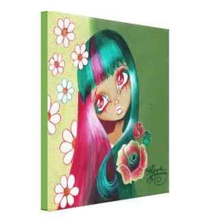 """Goth Girl: """"Leialoha"""" Canvas Print"""