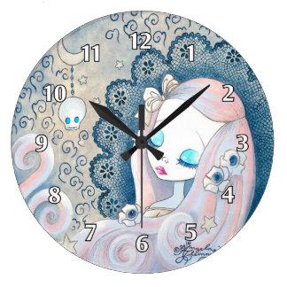 "Goth Girl: ""Leila"" Large Clock"