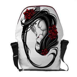 Goth Girl Messenger Bags