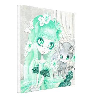"""Goth Girl: """"Minty"""" Canvas Print"""
