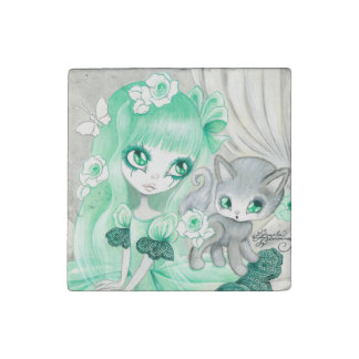 "Goth Girl: ""Minty"" Stone Magnet"