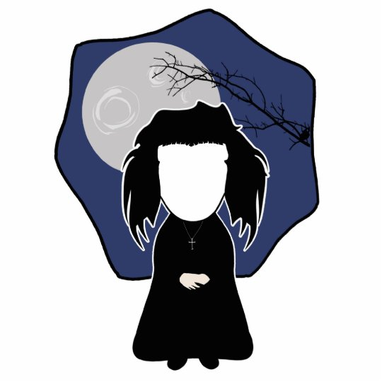 Goth Girl (personalize with your pic) Statuette