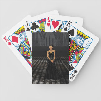 Goth Girl Playing Cards