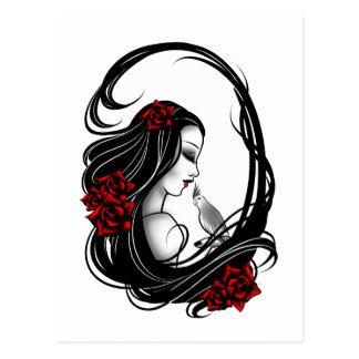 Goth girl postcard