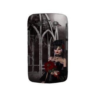 Goth girl & roses by spooky Gothic gazebo casematecase