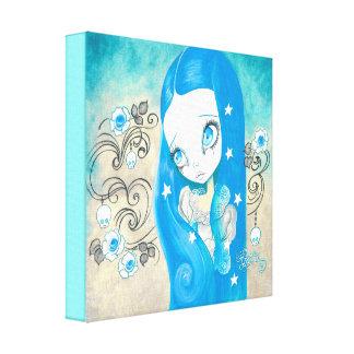 "Goth Girl : ""Sapphyre"" Canvas Print"