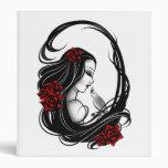 Goth girl vinyl binders