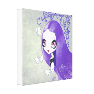 "Goth Girl : ""Violetta"" Canvas Print"
