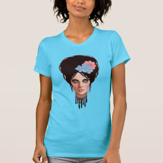 Goth Girl with Retro Beehive Hairdo T-Shirt