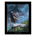 """Goth Girl with Rose on a Hillside"" POSTER"