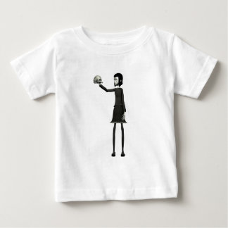 Goth Girl with Skull Baby T-Shirt