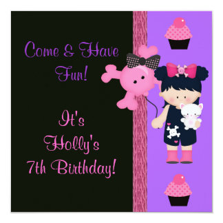 Goth Girlie Cupcake Birthday Card