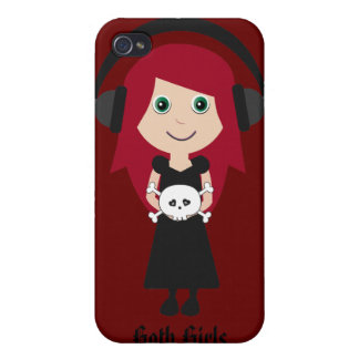 Goth Girls ROCK! Case For iPhone 4