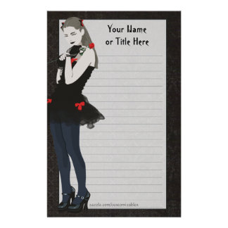 Goth Girly Stationery