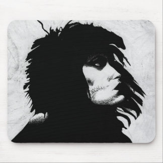 Goth Goddess Portrait Original Art Mousepad