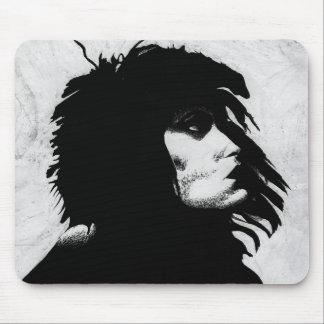 Goth Goddess Portrait Original Art Mousepad
