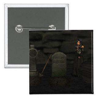 Goth Graveyard Button