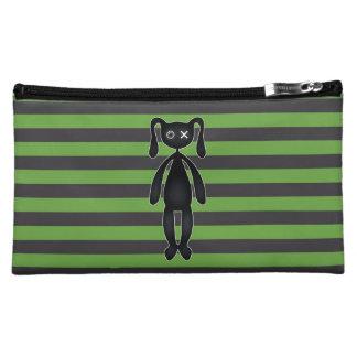 Goth Green and Black Bunny Makeup Bag