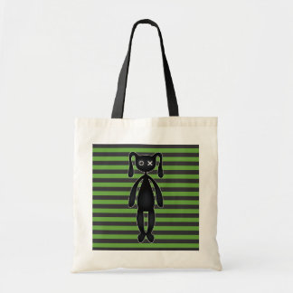 Goth Green and Black Bunny Tote Bag