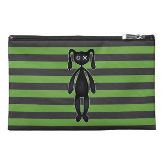 Goth Green and Black Bunny Travel Accessory Bag