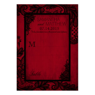 Goth Grunge Lace Wedding Place Cards Large Business Card