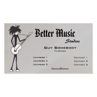 Goth Guitarist Business Card