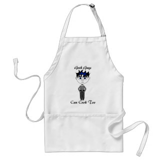 Goth Guys Can Cook Too Apron