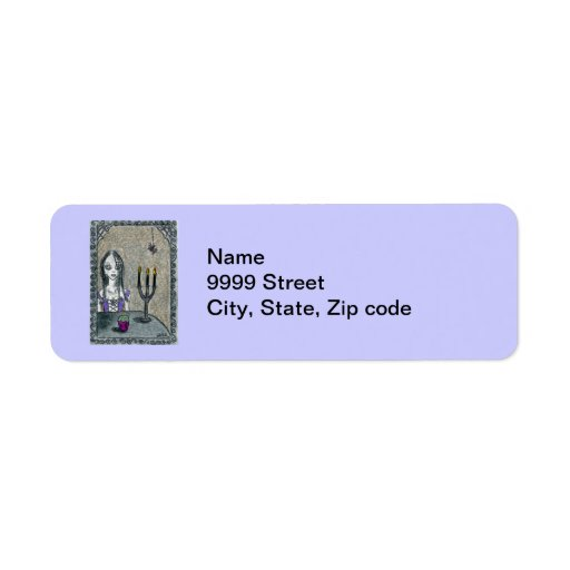 Goth Halloween Custom Return Address Label