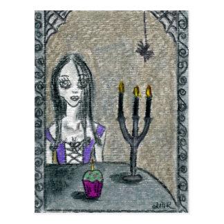 Goth Halloween Postcard