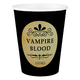 Goth Halloween Vampire Paper Cup