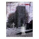 Goth Haunted Cemetery Postcard